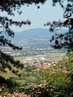 Visoko from the Pyramid of the Sun