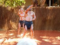 Aborigine dancing by non-aborigines
