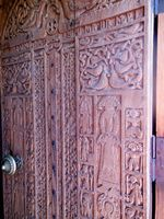 The carved door of Surp Astvatsatsin