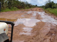 Muddy roads in Tanzania