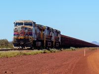 The front end of an iron ore train